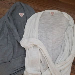 Gray and White 2 for 1 Mossimo Cardigans